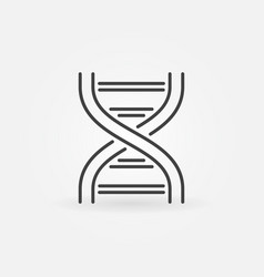Dna linear icon genetic and science sign vector