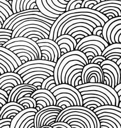 doodle drawn background vector image