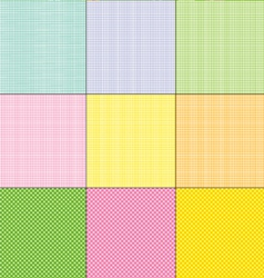 easter plaids and dots vector image