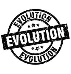 Evolution round grunge black stamp vector