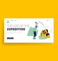 Fieldwork expedition scientific geological vector