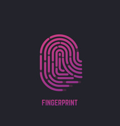 fingerprint gradient logo vector image