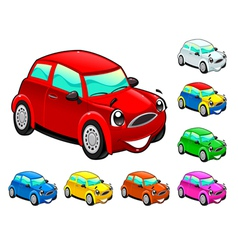 Funny cars in different colors vector