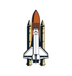 hand drawn spaceship vector image