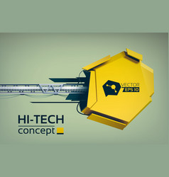 Hi-tech digital concept vector