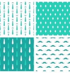 hipster seamless patterns vector image