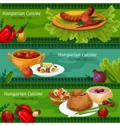 Hungarian cuisine banners for restaurant design vector