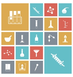 icons tile chemical vector image