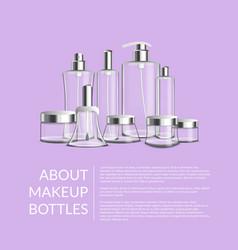 Internet article design about makeup bottles vector