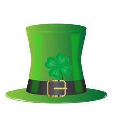 Irish green top hat vector