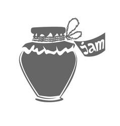 jar of jam silhouette vector image
