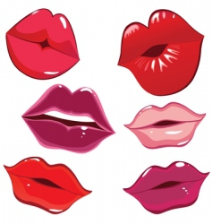 Lips and kiss vector