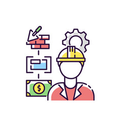 manufacturing engineer rgb color icon vector image