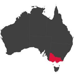 Map of australia - victoria vector