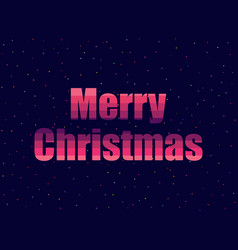 marry christmas in 80s retro style text in the vector image