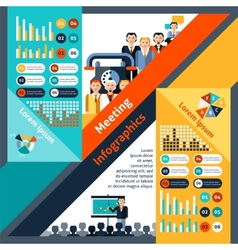 Meeting Infographics Set vector image