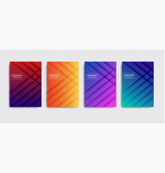 minimal covers design colorful halftone vector image