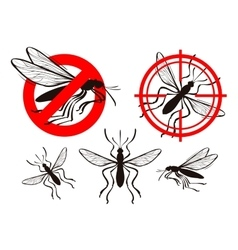 mosquito icon set pest control vector image