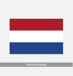 netherlands dutch national country flag banner vector image