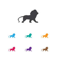 of animal symbol on lion icon vector image