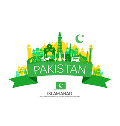 pakistan travel landmarks vector image