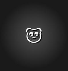 panda icon flat vector image