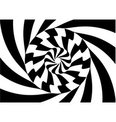 pattern with optical black white design vector image