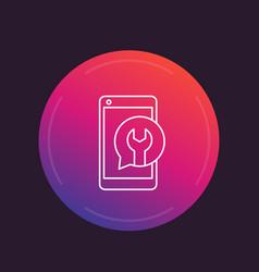 Phone repair linear icon vector