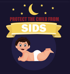 Protect child from sids for sids awareness month vector