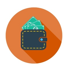 Purse with dollar vector image