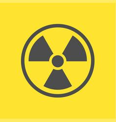 radioactive warning yellow sign vector image
