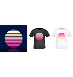 Retro sun t-shirt print stamp for tee t shirts vector