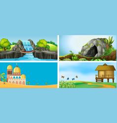 set of outdoor landscape vector image