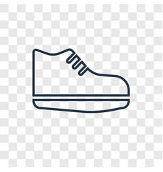 sneakers concept linear icon isolated on vector image