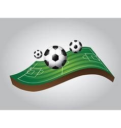 Soccer design over gray background vector
