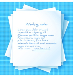 Stack of Papers on Blueprint vector