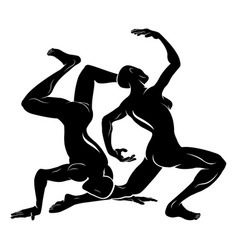 stylised dancers vector image