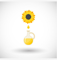 sunflower oil flat icon vector image