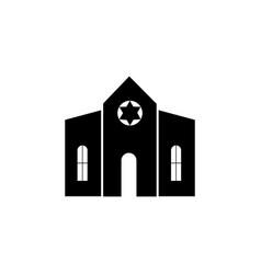 synagogue building icon vector image