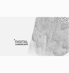 Technology landscape tech surface dot vector