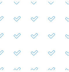 Tick icon pattern seamless white background vector