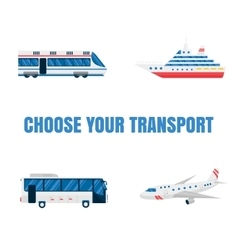 Transport road and air vector image