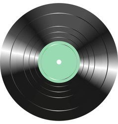 Vintage vinyl record isolated on white background vector image