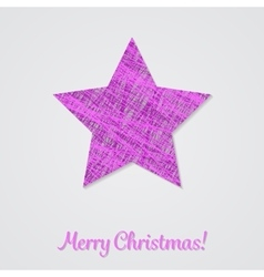 Violet star on a white background vector