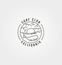 wild wale on sea logo symbol design line art vector image