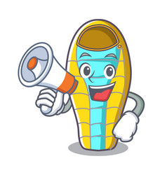 with megaphone sleeping bad character cartoon vector image