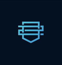 z letter 2 number shield logo icon line outline vector image