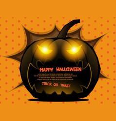 abstract pumpkin halloween background vector image