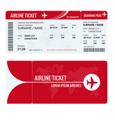 airline ticket or boarding pass for traveling by vector image vector image