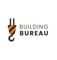 crane logo for construction or building vector image vector image